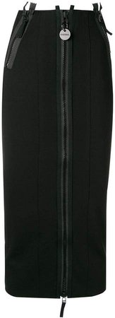 zipped fitted skirt