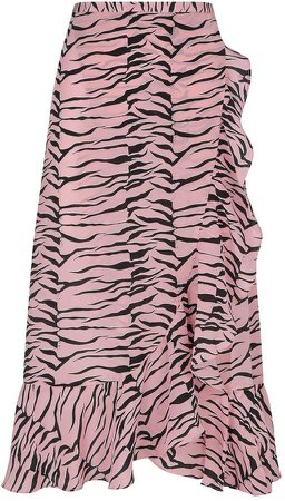 Rixo Gracie Wrap Midi Skirt