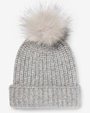 Ribbed Knit Pom Beanie