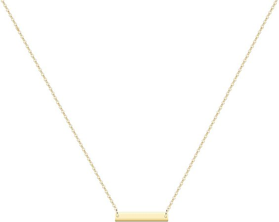 Amazon.com: Gold Dainty Bar Necklace for Women, 14K Gold Plated Cute Tiny Horziontal/Balance Necklace, Delicate Fashion Necklace: Clothing