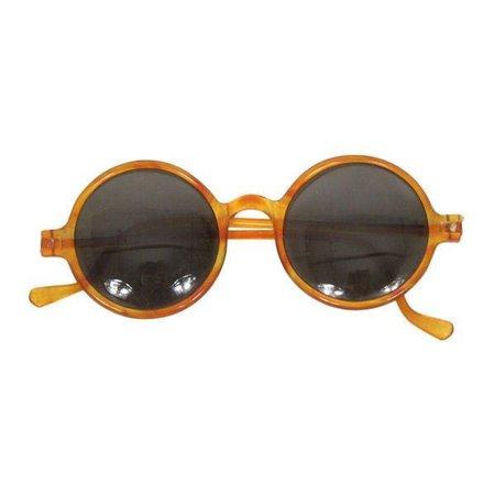 round yellow sunglasses