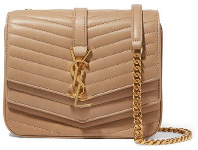 Sulpice Small Quilted Leather Shoulder Bag - Beige