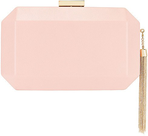 Lia Facetted Clutch With Tassel