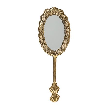 shell hand mirror