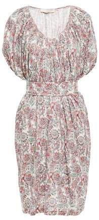 Lalla Belted Floral-print Linen-jersey Dress