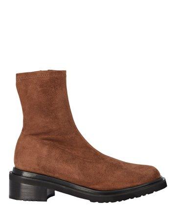 BY FAR Kah Suede Lug Sole Ankle Boots   INTERMIX®