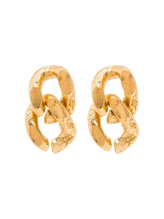 Alighieri 24kt gold-plated The Fractured Link Earrings - Farfetch