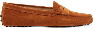 Gommino Suede Loafers - Camel