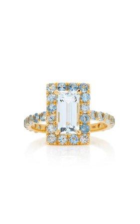 Yi Collection 18K Gold Aquamarine Ring