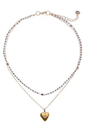 Nakamol Chicago 2-Layer Mini Heart Necklace | Nordstrom