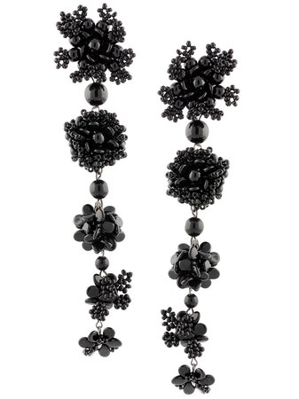 Carolina Herrera, Black drop earrings