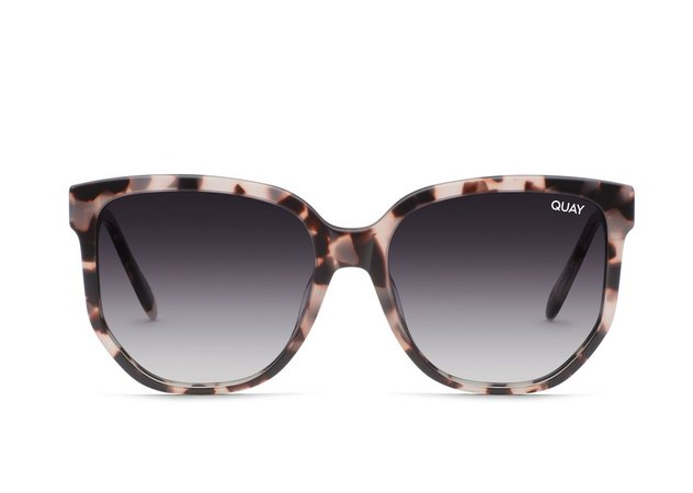 COFFEE RUN Oversized Black Sunglasses   Quay Australia
