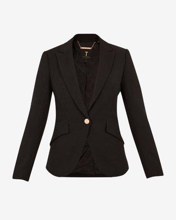 Angular tailored jacket - Black | Workwear | Ted Baker UK