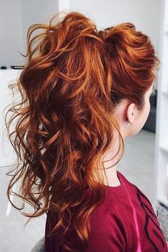wedding hairstyles red - Google Search