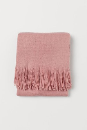 Fringed scarf - Old rose - Ladies   H&M GB