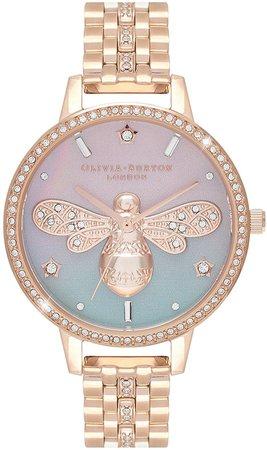 Sparkle Bee Bracelet Watch, 34mm