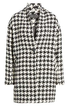BLANKNYC Houndstooth Cocoon Coat | Nordstrom