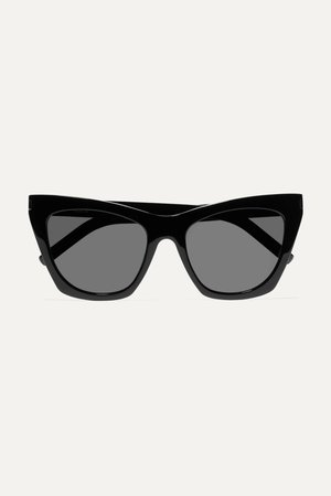 Black Kate cat-eye acetate sunglasses | SAINT LAURENT | NET-A-PORTER