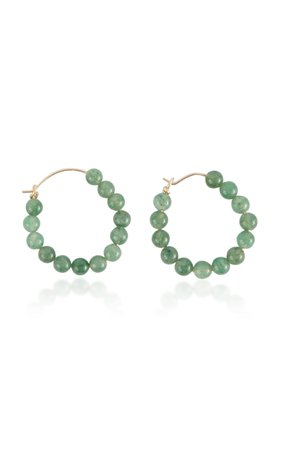 Holly Ryan Moss Agate Hoops