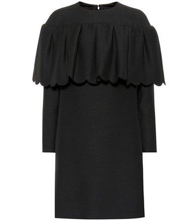 Wool and silk crêpe minidress