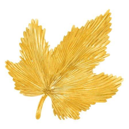 Tiffany and Co. Gold Leaf Brooch