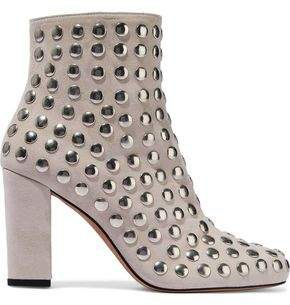 Bootroky Studded Suede Ankle Boots