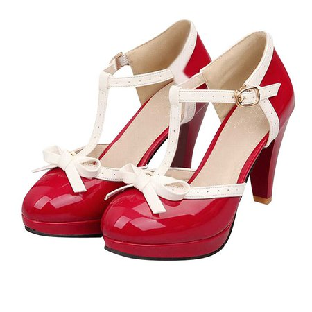 red pin up shoes - Google Search