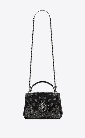 Saint Laurent College Medium Bag In Bandana Fabric  | YSL.com