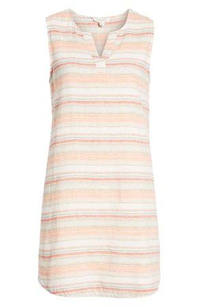 beachlunchlounge Jaylene Stripe Sleeveless Linen & Cotton Shift Dress   Nordstrom
