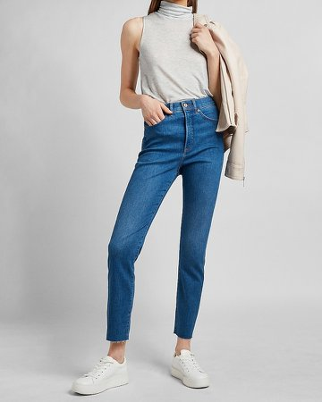 Relaxed Heathered Mock Neck Tank