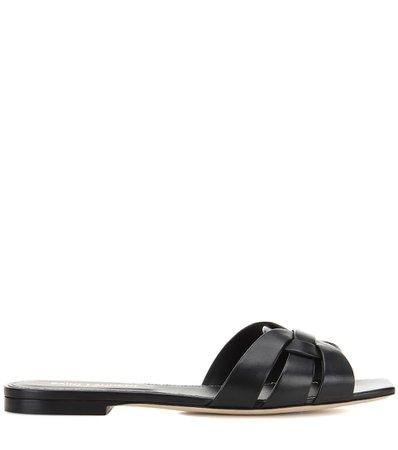 Nu Pieds 05 Leather Sandals - Saint Laurent |