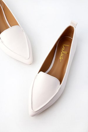 Cute White Loafers - Loafer Flats - Vegan Leather Loafers