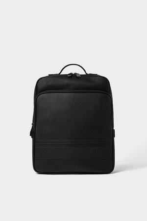 SMART BLACK BACKPACK - Backpacks-BAGS-MAN   ZARA United Kingdom