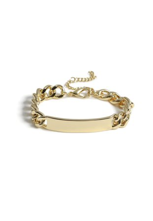 Gold Look Chunky Bar Chain Bracelet | Missguided