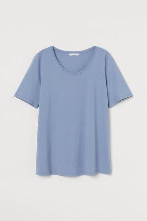 MAMA Cotton T-shirt - Blue