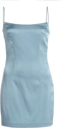 Zeynep Arcay Spaghetti Silk Mini Dress