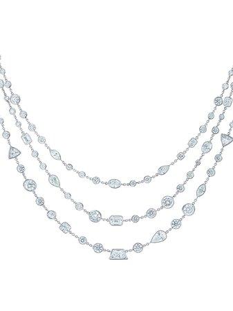 platinum diamond Allure 3-Row necklace
