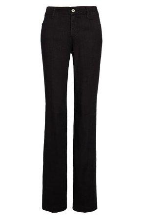 NYDJ Linen Trousers | black