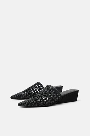 WOVEN WIDE HEEL MULES - View all-SHOES-WOMAN | ZARA United States