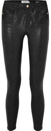 Le High Skinny Leather Pants - Black