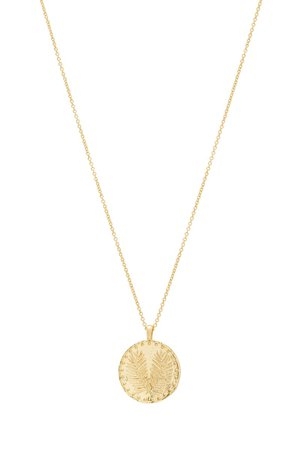 gorjana Palm Coin Pendant Necklace | Nordstrom
