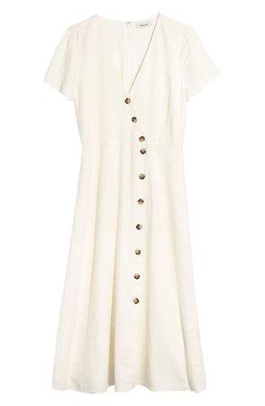 Madewell Button Midi Dress | Nordstrom