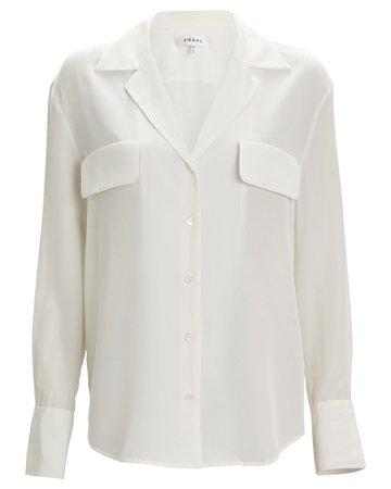FRAME Silk Button-Down Blouse | INTERMIX®