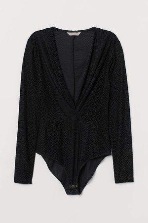 Glittery Bodysuit - Black