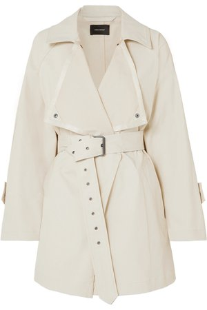 Isabel Marant Jamelo belted gabardine trench coat