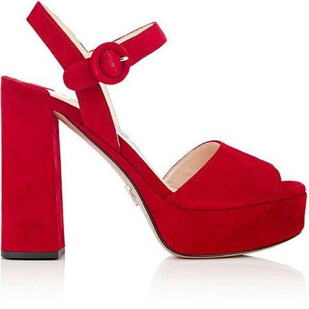 Red Prada Chunky Heel