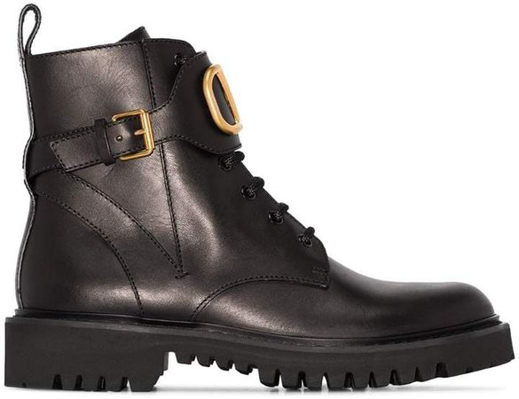 Go logo ankle boots