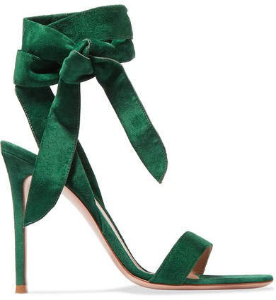 105 Suede Sandals - Forest green