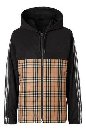 Burberry Compton Check Hooded Jacket | Nordstrom