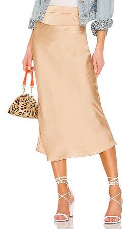 Free People Normani Bias midi Skirt in Gold | REVOLVE
